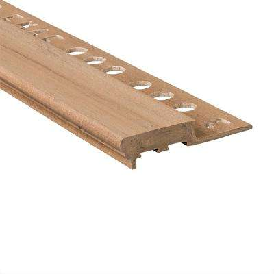 Novopeldano Maxi Dun 1/2 in. x 98-1/2 in. Composite Tile Edging Trim
