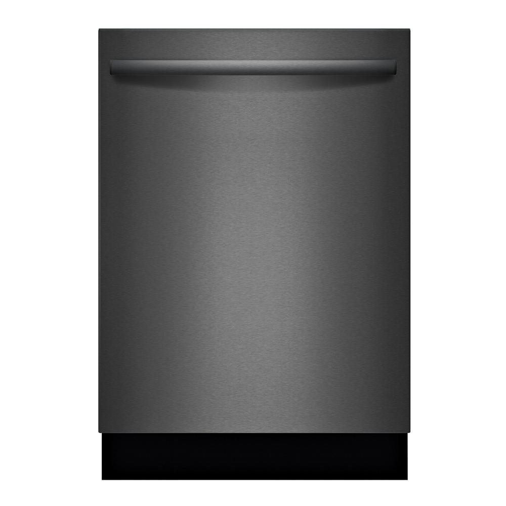 Bosch 100 Series Top Control Tall Tub Dishwasher in Black Stainless Steel with Hybrid Stainless Steel Tub and 3rd Rack, 48dBA