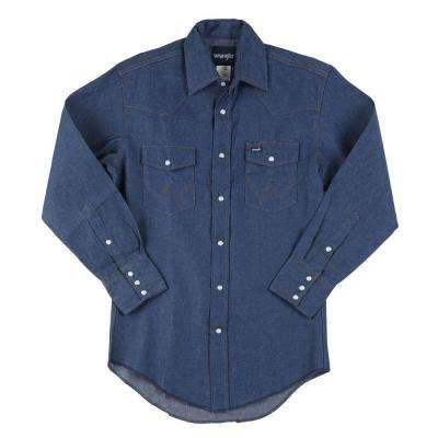15 in. x 34 in. Men's Cowboy Cut Western Work Shirt