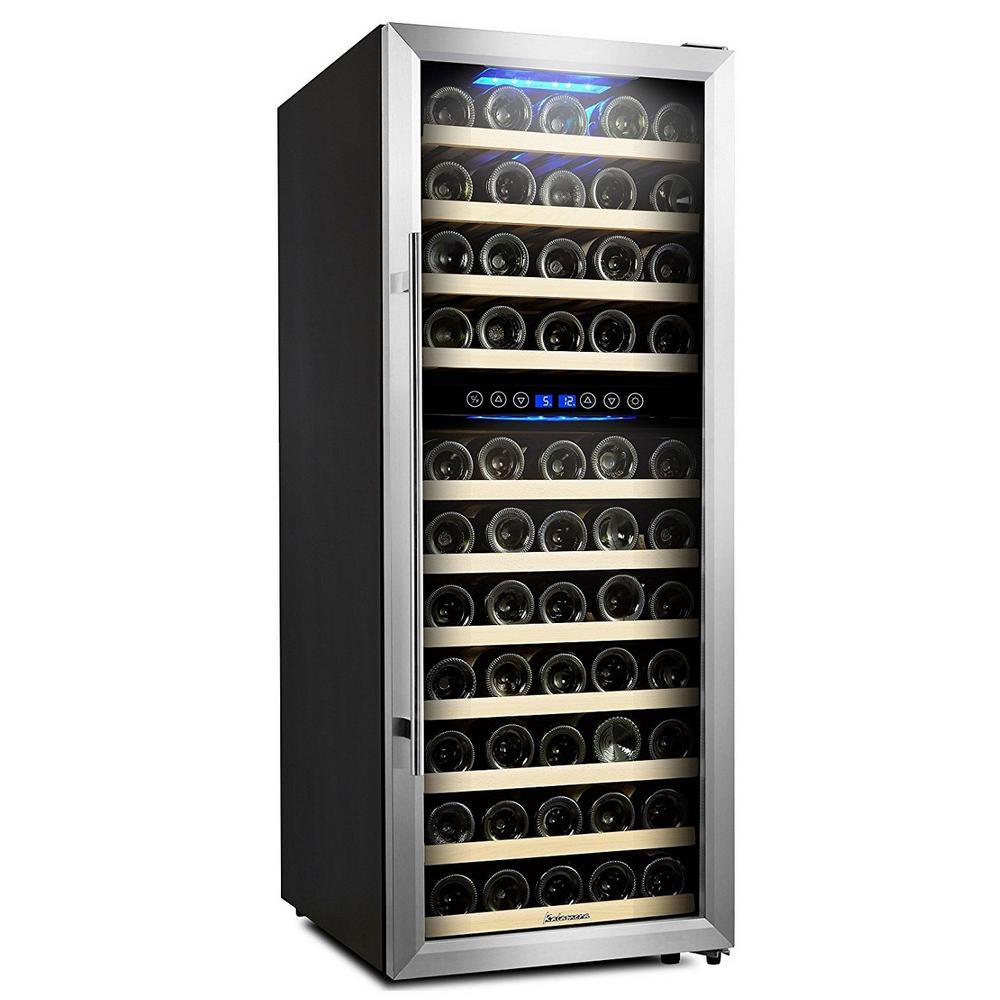 73 Bottle Compressor Wine Cooler Dual Zone with Touch Control -