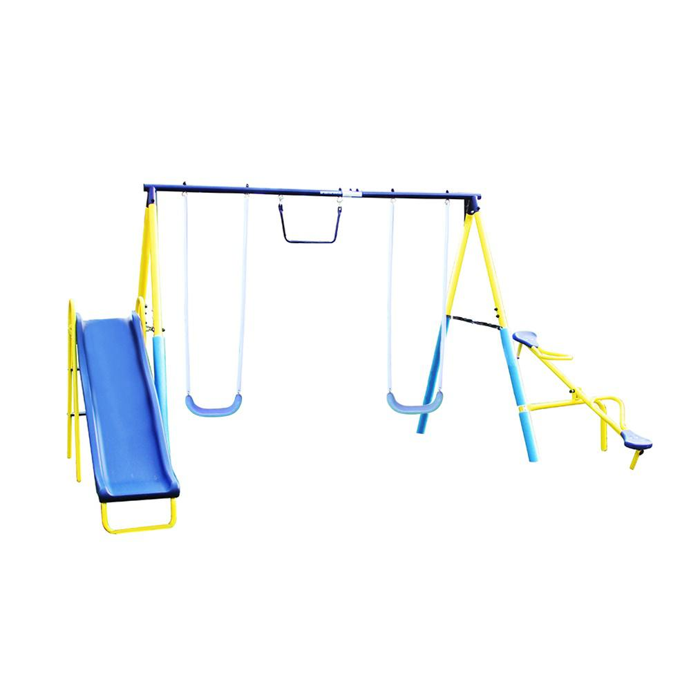 Sportspower Super First Metal Swing Set Msc 4146 The Home Depot