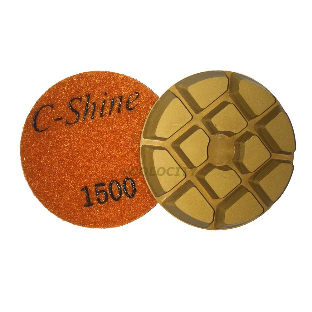 3 In 1500 Grit Concrete Diamond Floor Polishing Pads Discs