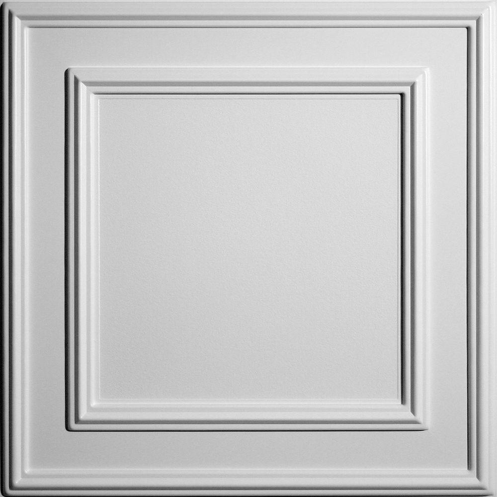 Ceilume Cambridge White Evaluation Sample, Not suitable for installation - 2 ft. x 2 ft. Lay-in or Glue-up Ceiling Panel