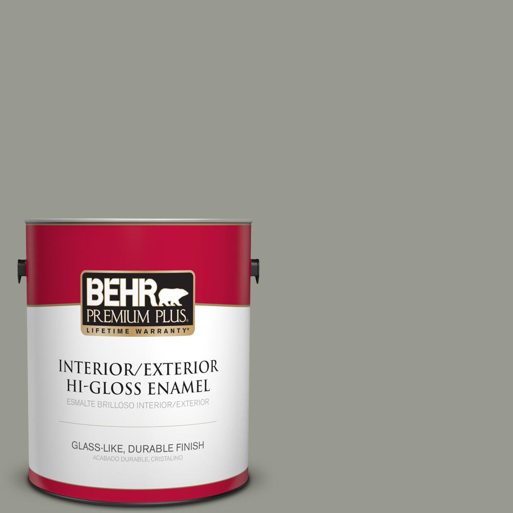 1 gal. #MQ6-21 Hunter's Hollow Hi-Gloss Enamel Interior/Exterior Paint
