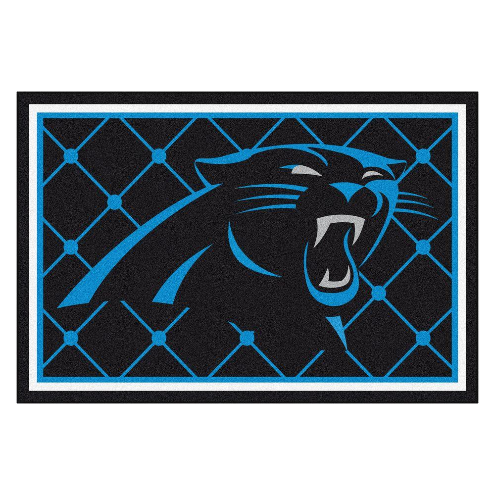 Nfl Area Rugs: FANMATS Carolina Panthers 5 Ft. X 8 Ft. Area Rug-6564