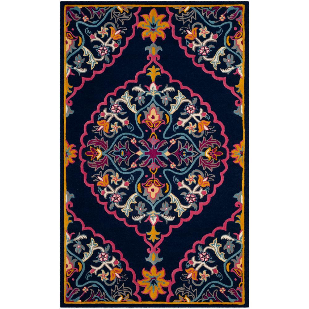 safavieh bellagio pink navy 6 ft x 9 ft area rug blg541c 6 the home depot. Black Bedroom Furniture Sets. Home Design Ideas