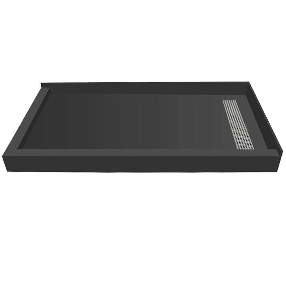 36 in. x 72 in. Double Threshold Shower Base with Right