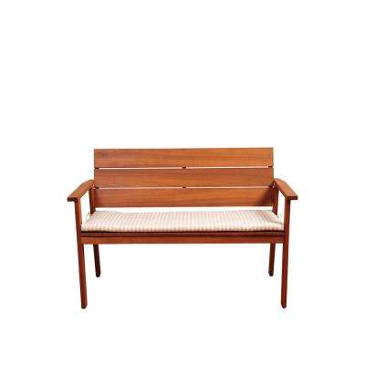 Amazonia Nelson 49 in. 2-Person Brown Wood Outdoor Bench