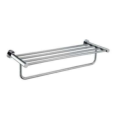 24 in. Commercial Grade Towel Rack in Polished Chrome