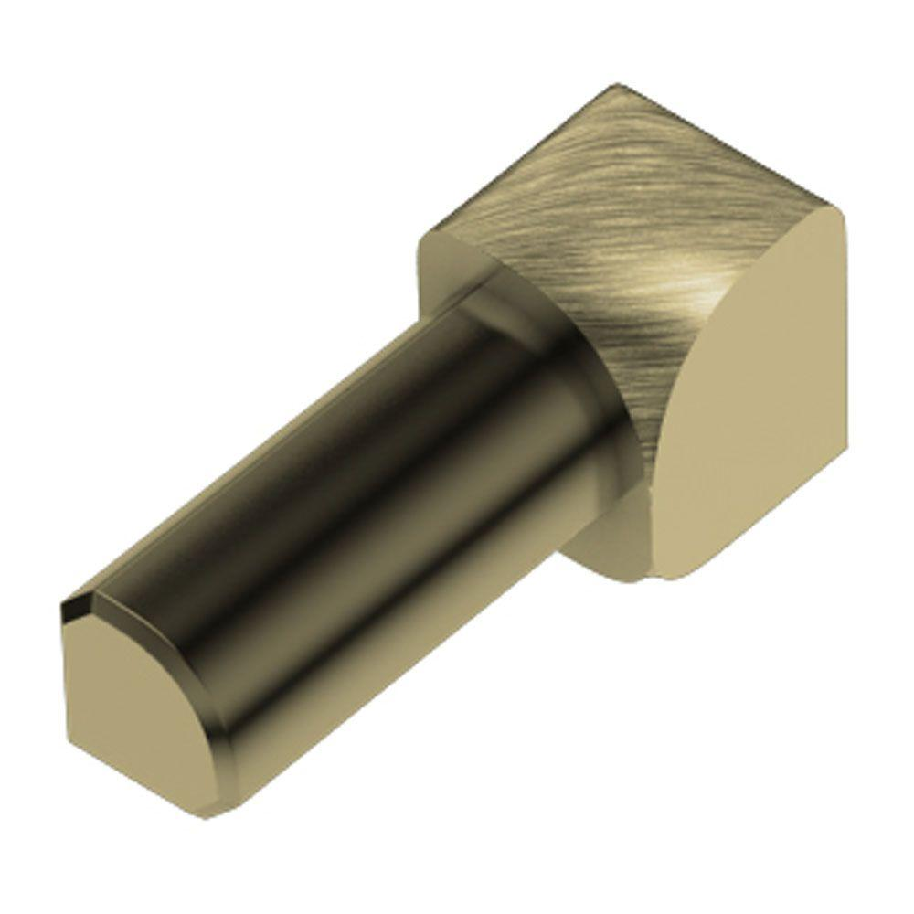 Rondec Brushed Brass Anodized Aluminum 3/8 in. x 1 in. Metal