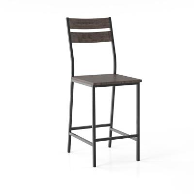 Drammen Antique Brown Counter Height Dining Chair (Set of 2)