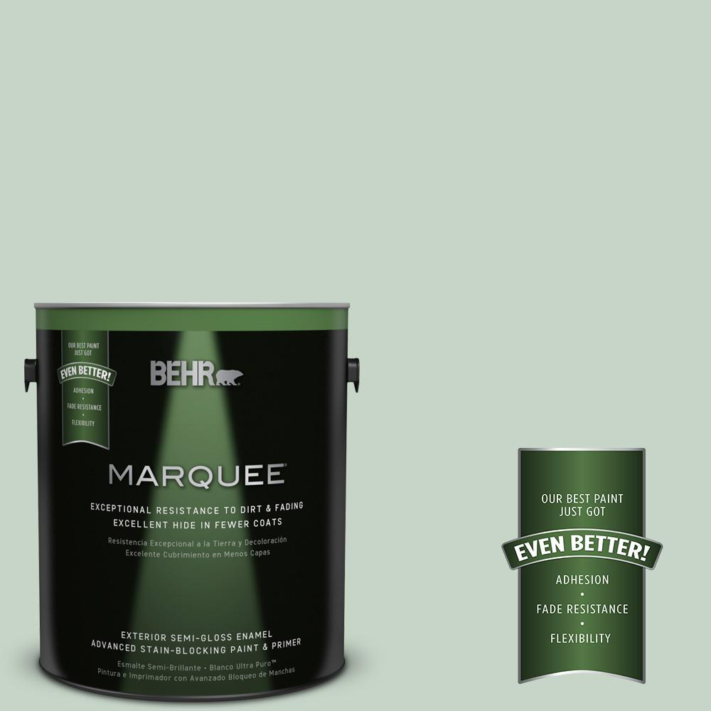 BEHR MARQUEE 1-gal. #S410-2 New Moss Semi-Gloss Enamel Exterior Paint
