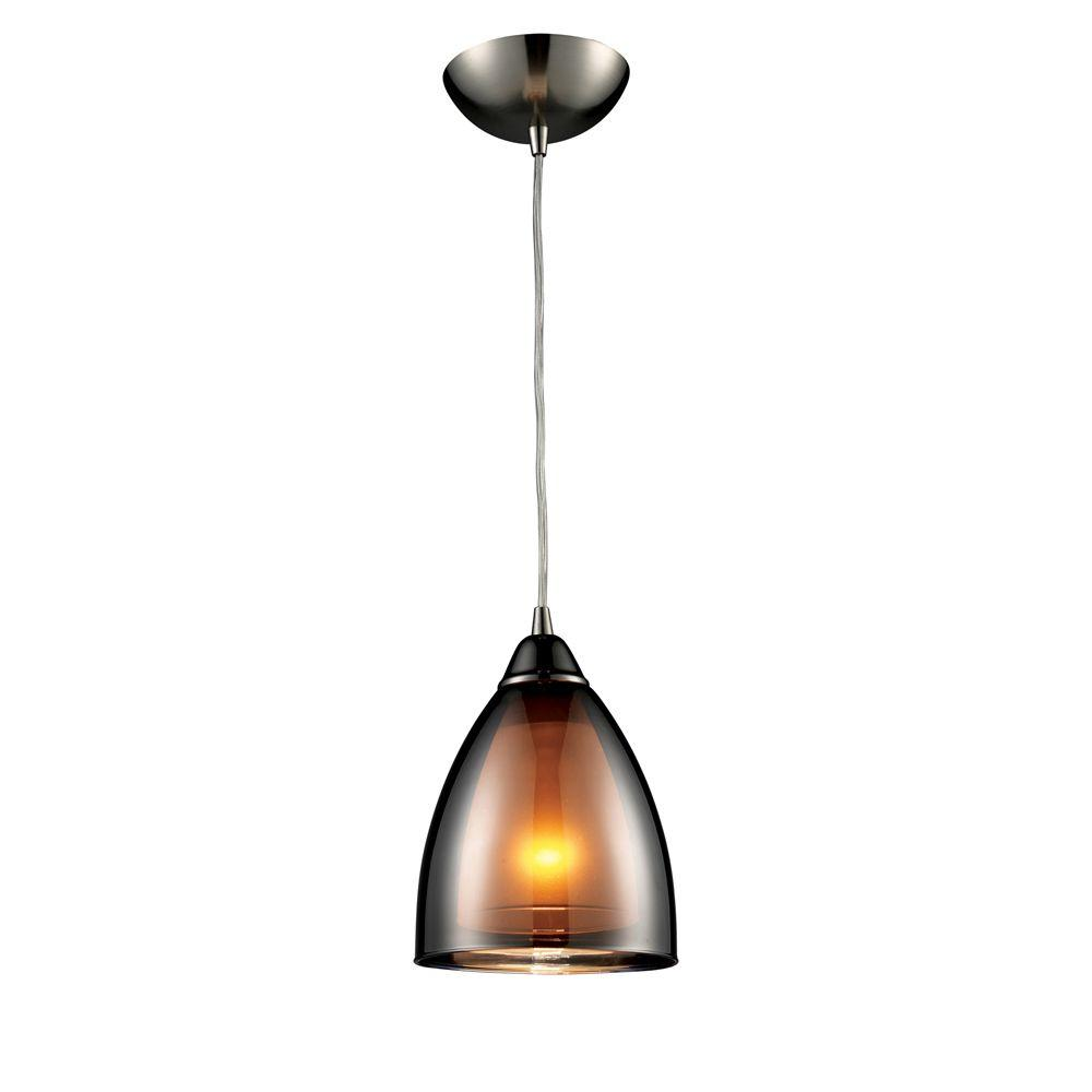 Titan Lighting 1-Light Black Chrome Ceiling Pendant-DISCONTINUED