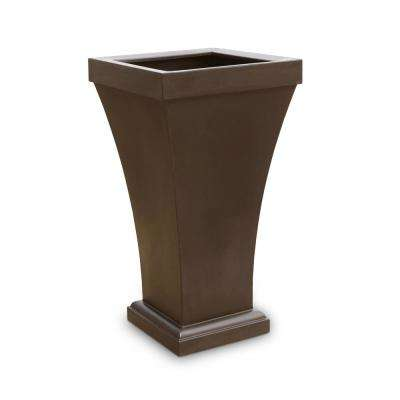 Bordeaux 40 in. Espresso Plastic Planter