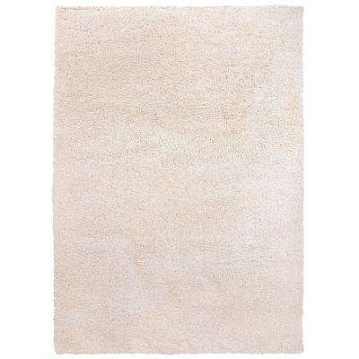 "Modern Solid Soft Plush Shag 7' 10"" x 10' Area Rug Cream"