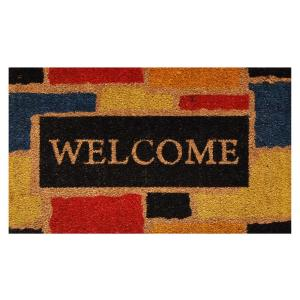Home & More Monty Welcome Door Mat 17 inch x 29 in. by Home & More