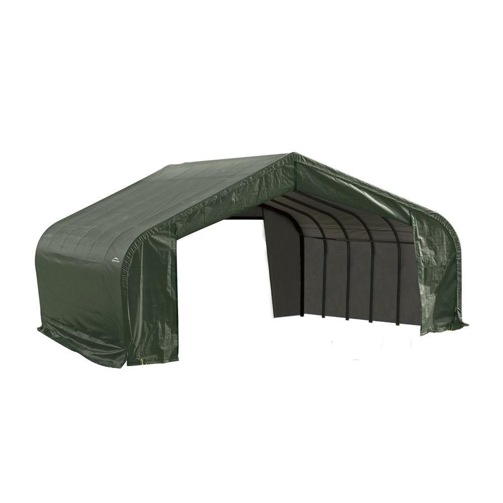 22 ft. x 20 ft. x 12 ft. Green Steel and  sc 1 st  The Home Depot & 15 - Portable Garages u0026 Car Canopies - Carports u0026 Garages - The ...