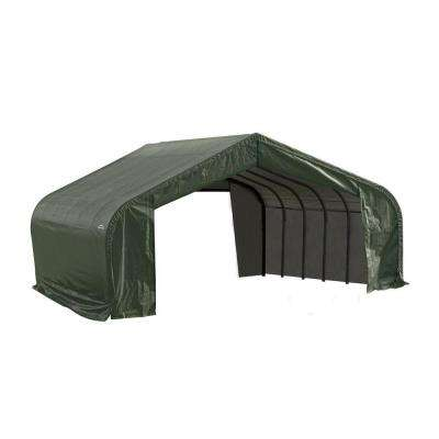 22 ft. x 20 ft. x 12 ft. Green Steel and Polyethylene Garage without Floor