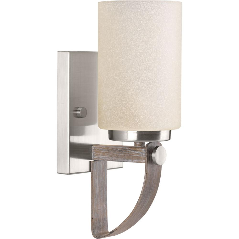 Progress Lighting Aspen Creek Collection 1 Light Brushed Nickel Wall Sconce P710008 009