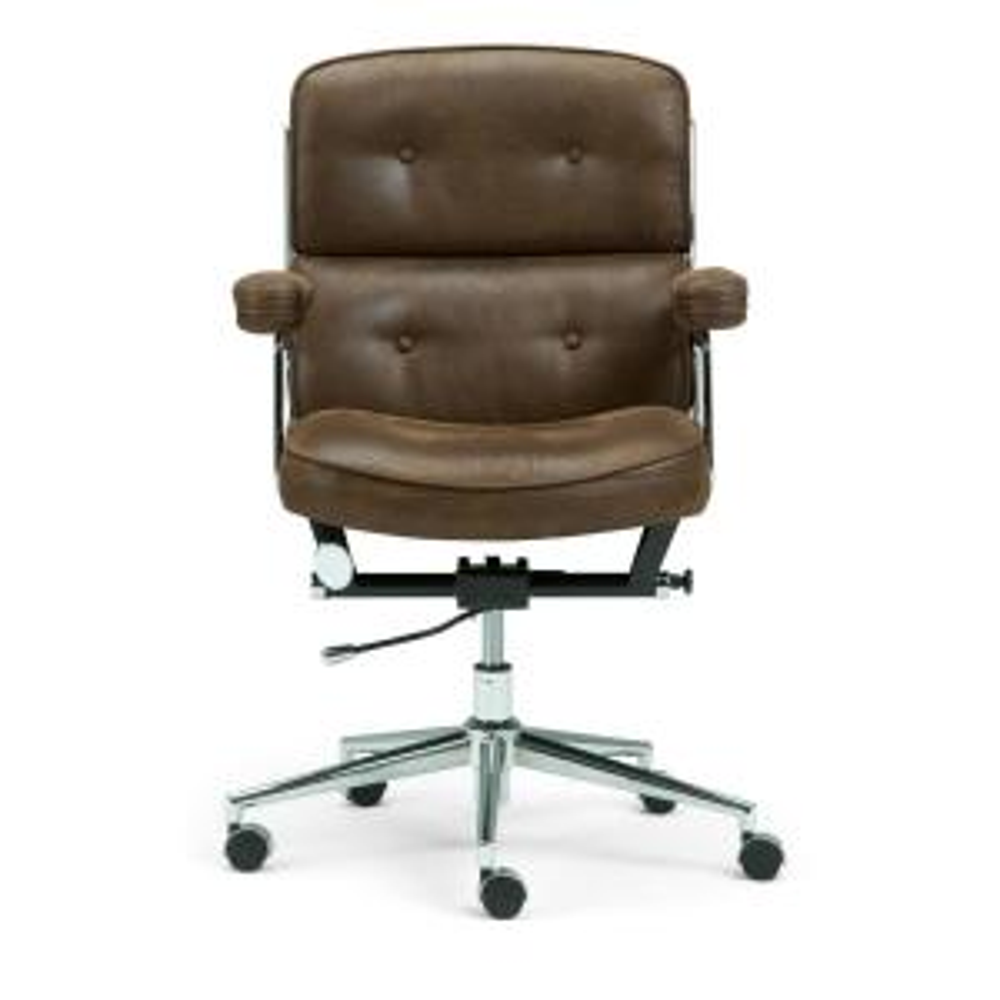 Fabulous Simpli Home Barton Swivel Adjustable Executive Computer Theyellowbook Wood Chair Design Ideas Theyellowbookinfo
