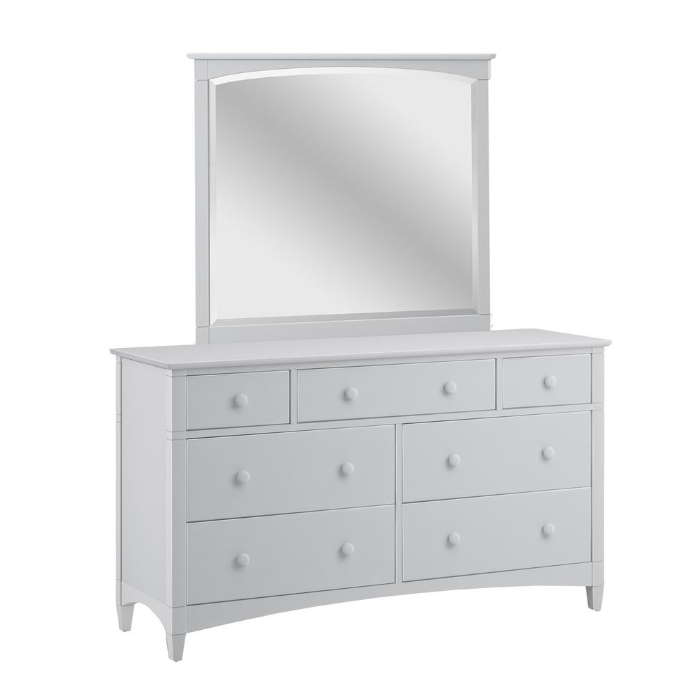 Es7 Drawer Dove Gray Dresser With Horizontal Mirror 662071800 The Home Depot