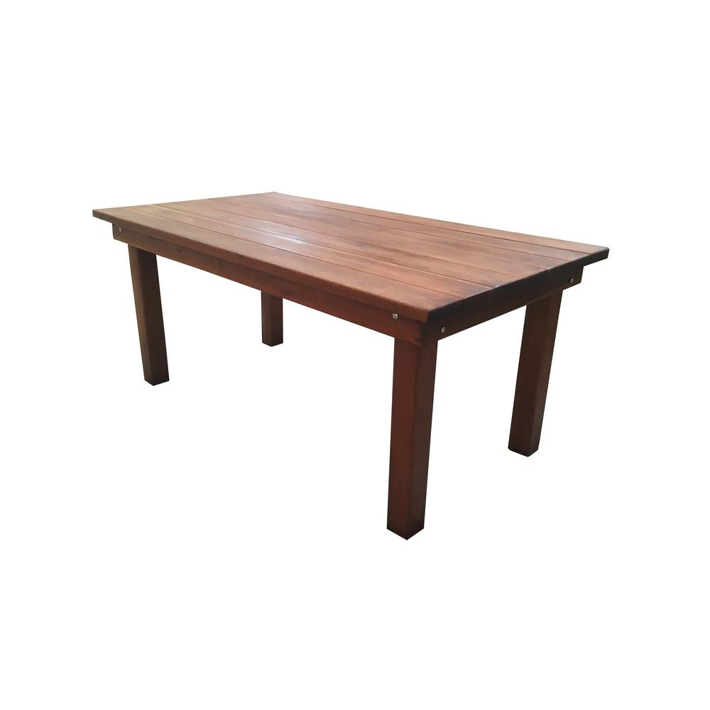 Ft Redwood Outdoor Dining Table Fdt