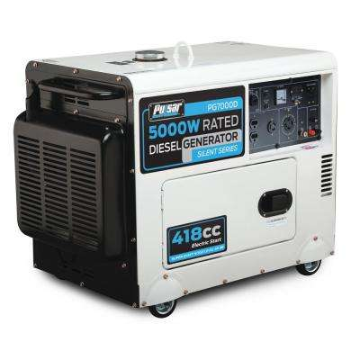 5,500/5,000-Watt Diesel Powered Electric/Recoil Start Portable Generator With 418 cc Koop Engine