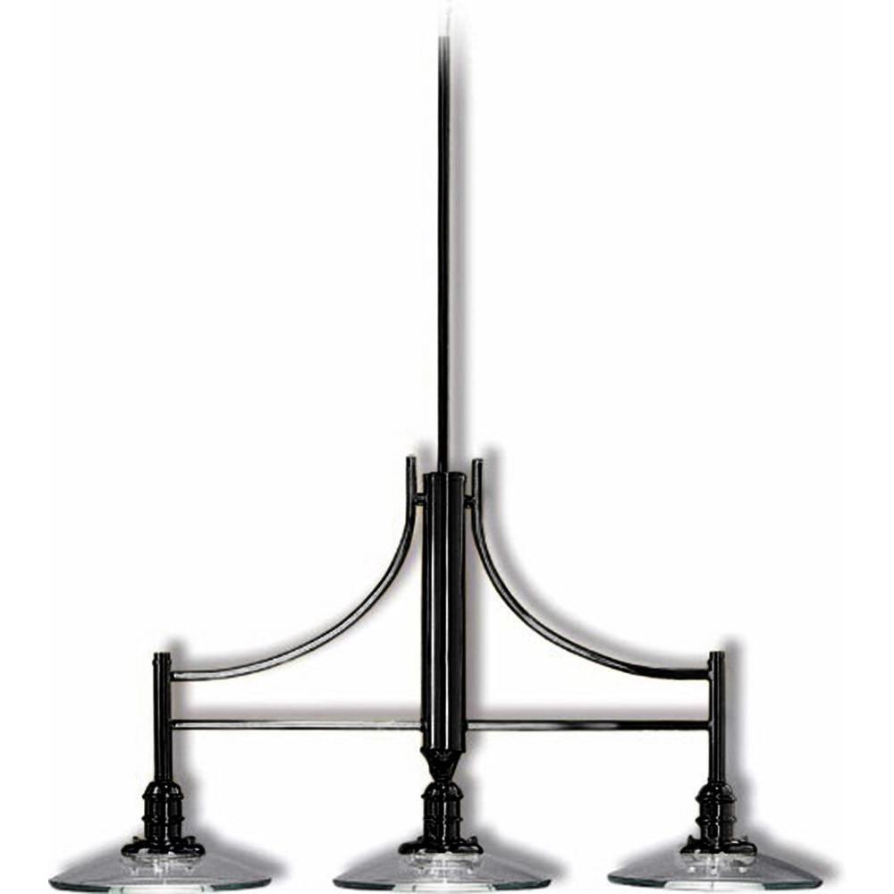 Filament Design Lenor 3-Light Black Incandescent Ceiling Pendant