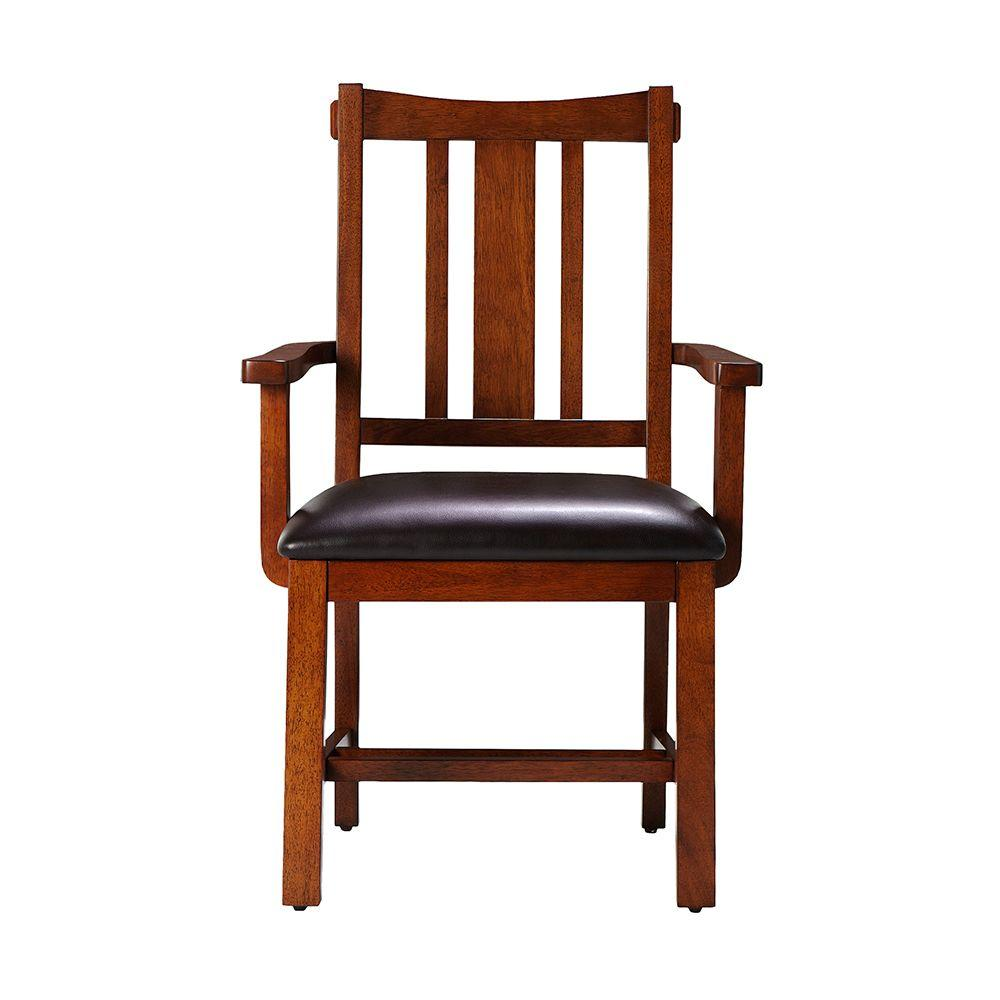 Home Decorators Collection 23.25 in. W Arm Chair Artisan in Light Oak