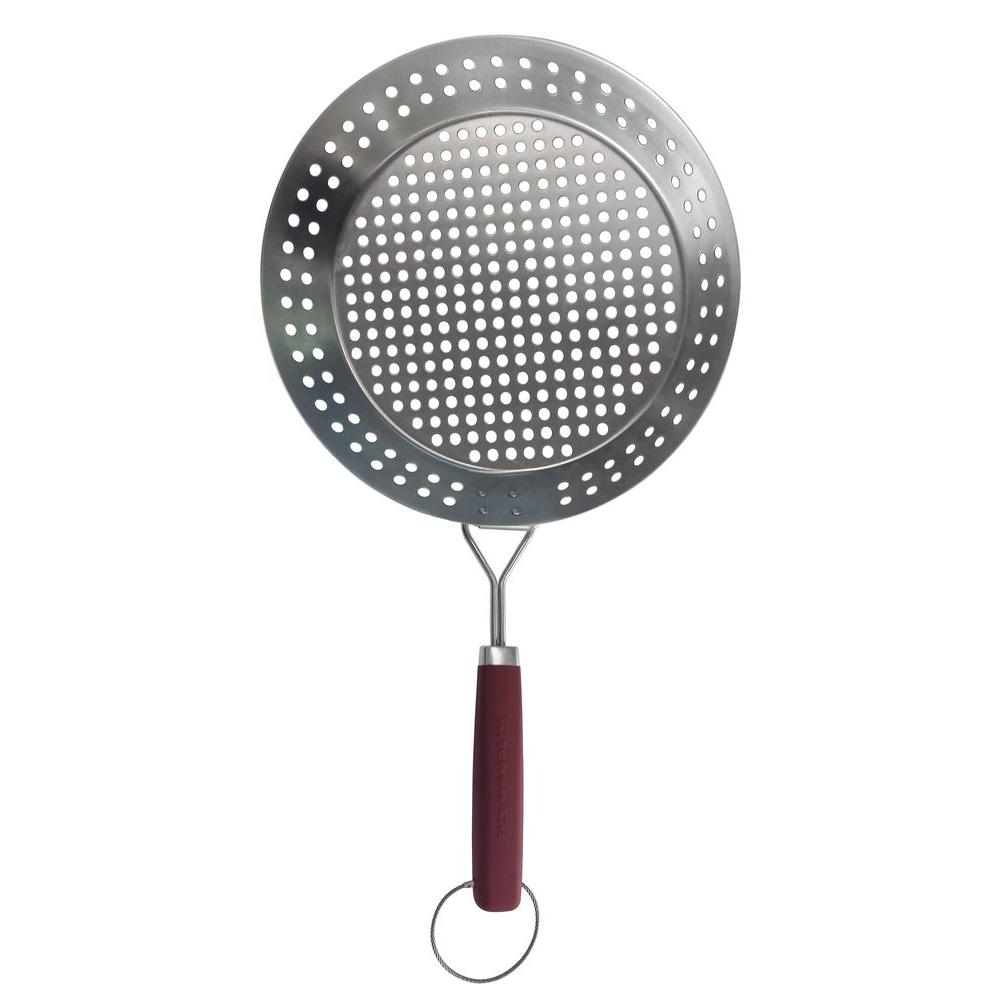 KitchenAid Grill Skillet, Red Silver Black