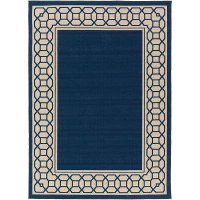 Keene Navy 2 ft. x 3 ft. Indoor/Outdoor Area Rug