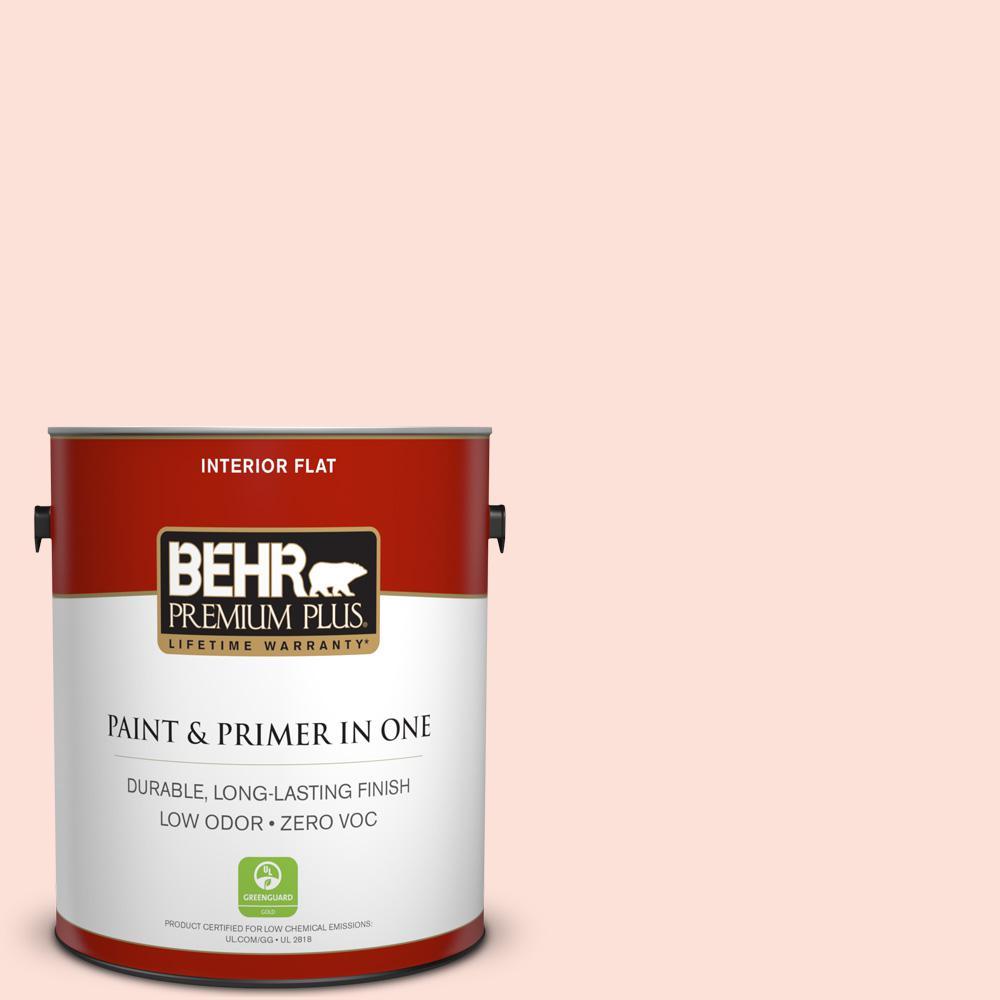 BEHR Premium Plus 1-gal. #200A-1 Peach Cloud Zero VOC Flat Interior Paint