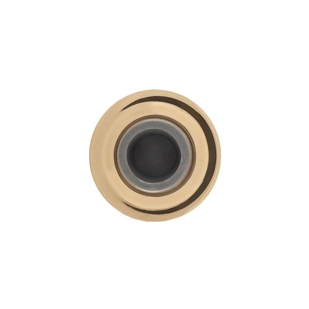 2.4 in. Polished Brass Concave Wall Mounted Door Stop