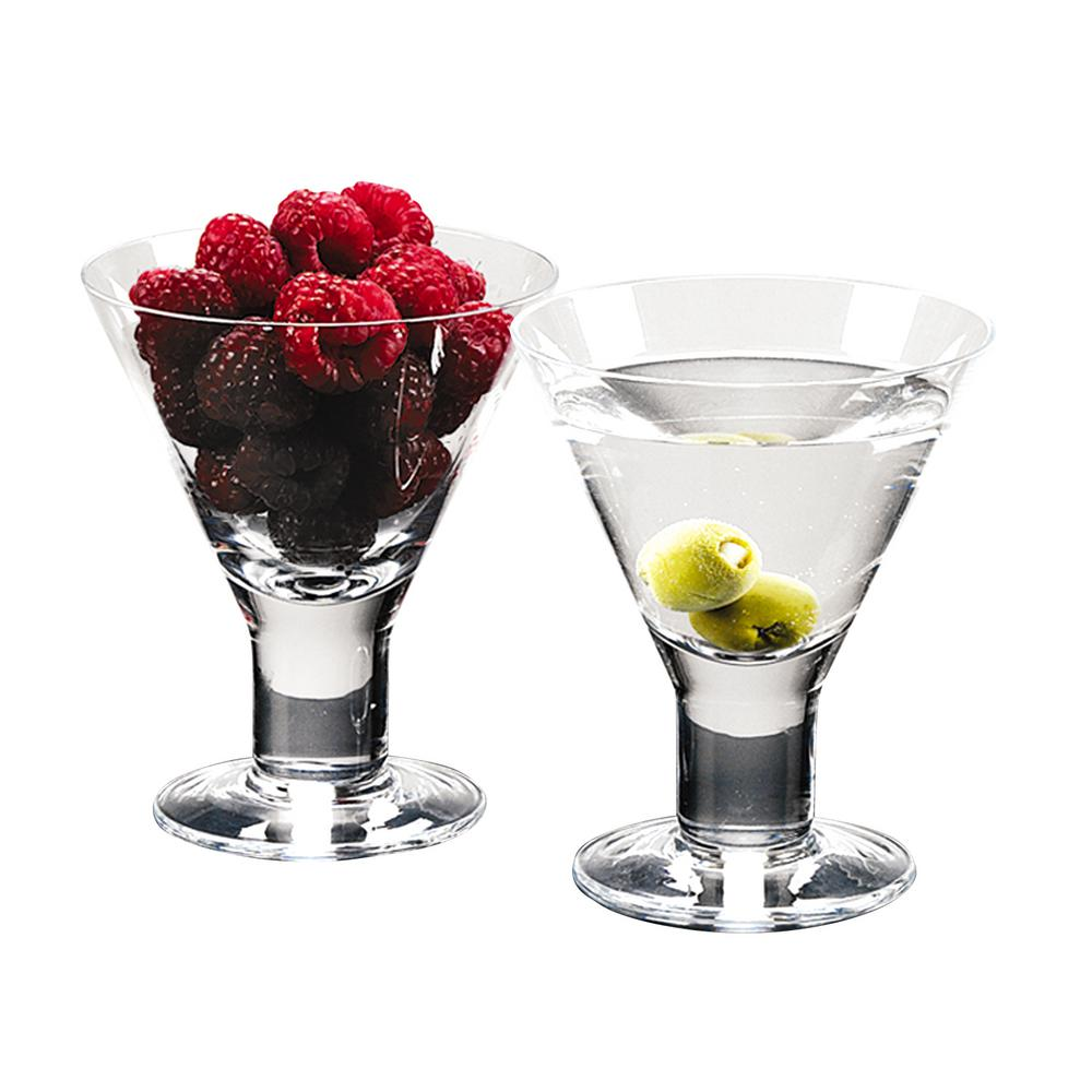 Badash Crystal 6 Oz 4 5 In High Caprice Mouth Blown Set Of 4 Martini Or Dessert Servers Af512 The Home Depot