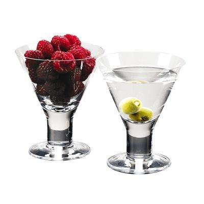 6 oz. 4.5 in. High Caprice Mouth Blown Set of 4 Martini or Dessert Servers