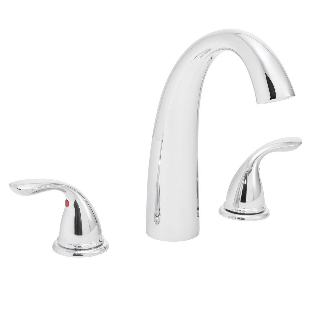 Speakman Refresh 2-Handle Deck-Mount Roman Tub Faucet in Polished Chrome (Valve Not Included)