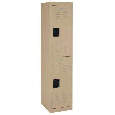66 in. H 2-Tier Welded Steel Storage Locker in Putty
