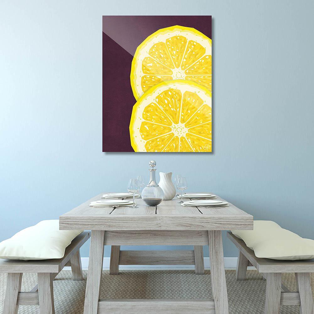 Creative Gallery 11 in. x 14 in. Large Sliced Lemon Barnwood Framed ...