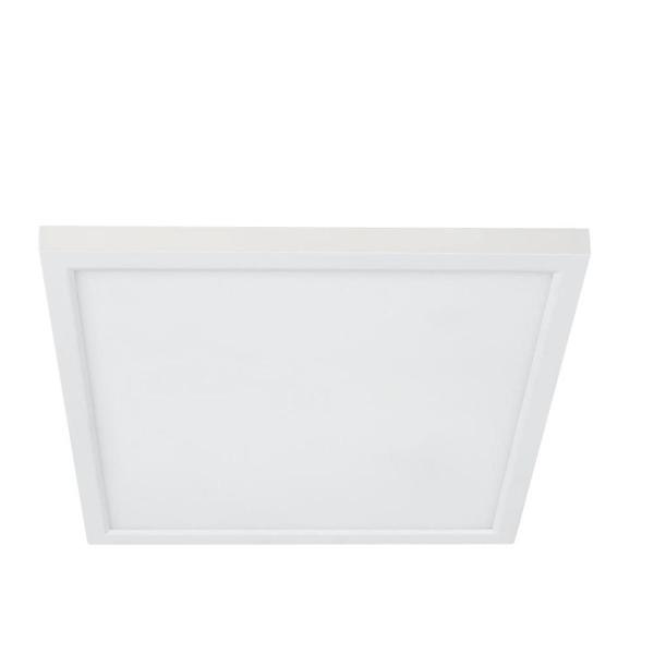 5 in. 8-Watt Title 24 Dimmable White Integrated LED Square Flat Panel Ceiling Flush Mount with Color Change CCT (4-Pack)