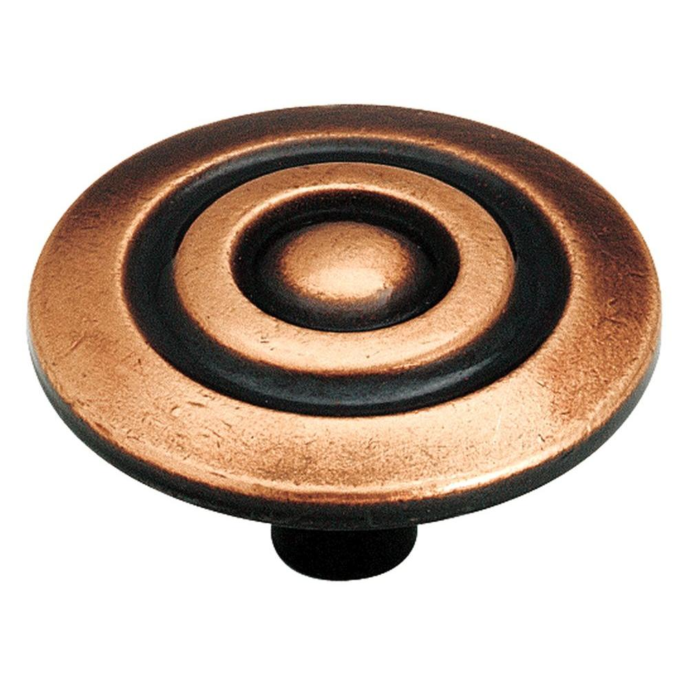 Colonnade 1-1/2 in. Antique Copper Cabinet Knob