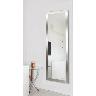 Large Silver Composite Modern Mirror (60 in. H X 21 in. W)