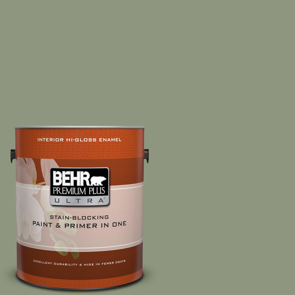 1 gal. #ECC-63-1 Autumn Sage Hi-Gloss Enamel Interior Paint