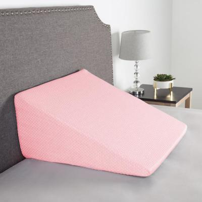 Memory Foam Pillow with Bamboo Fiber Cover Extra High Wedge Pillow in Pink