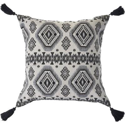 Nordic Black and White Geometric Decorative Polyester Fill 20 in. x 20 in. Throw Pillow