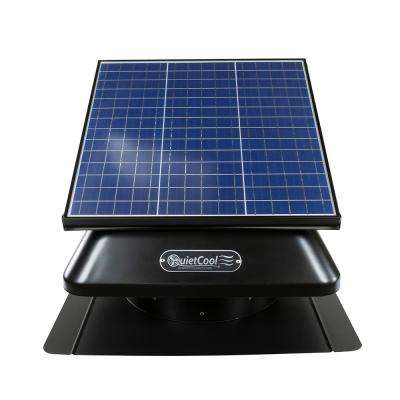 30-Watt Hybrid Solar/Electric Powered Roof Mount Attic Fan with Included Inverter