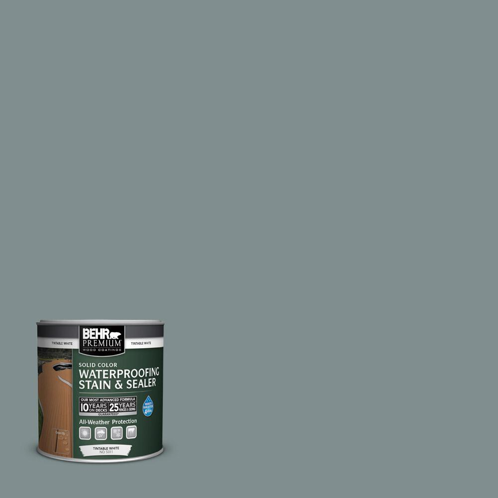 BEHR Premium 8 oz. #SC125 Stonehedge Solid Color Waterproofing Stain and Sealer Sample