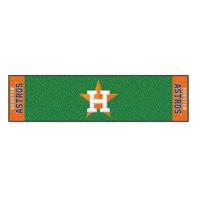 MLB Houston Astros 1 ft. 6 in. x 6 ft. Indoor 1-Hole Golf Practice Putting Green
