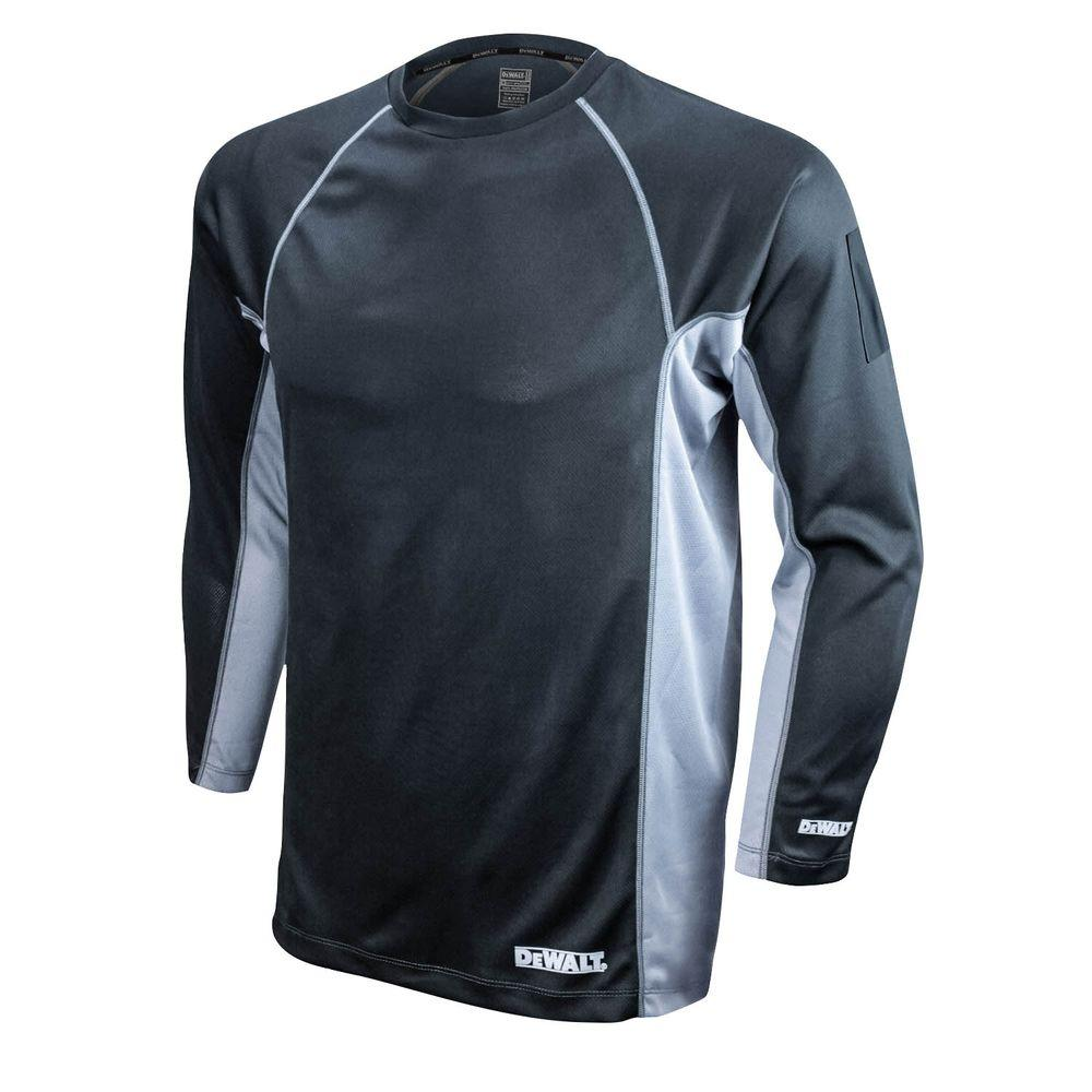 Men's 5X-Large Black and Gray Long Sleeve Performance T-Shirt
