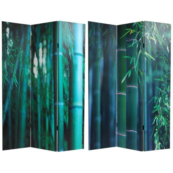 Oriental Furniture 6 ft. Printed 3-Panel Room Divider CAN-BAMB