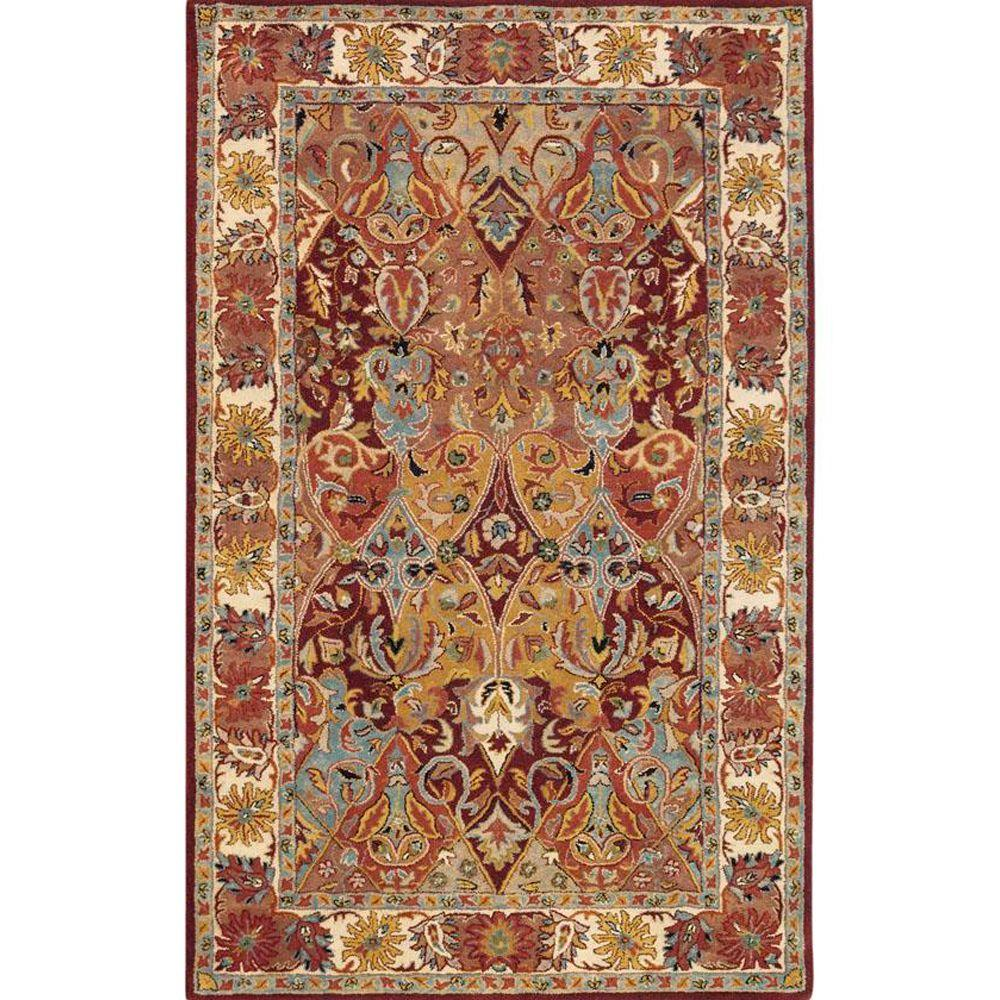 Home Decorators Collection Rhodes Burgundy 5 ft. x 8 ft. Area Rug